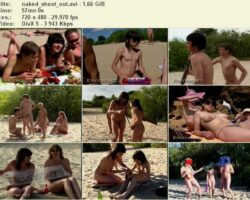Young and adult nudists video – Naked shoot out