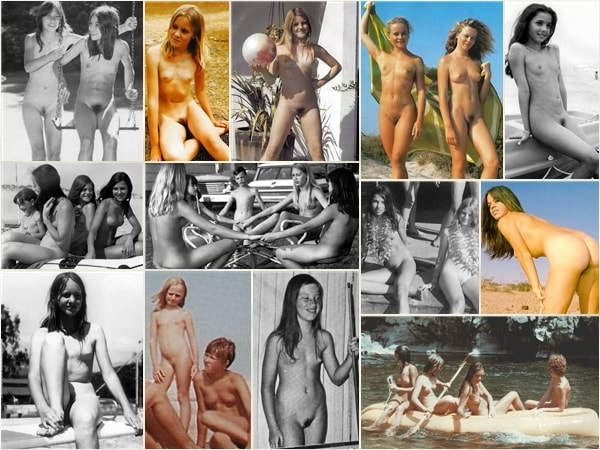 Adults and young nudists without clothes photo PureNudism Vintage nudists # 3