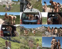 Beauty family nudism video – Mountainside afternoon vol.2