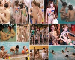 Many photos of nudists of different ages. PureNudism – Water games & paint