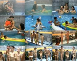 Video about nudists –  Contests in the water vol.1